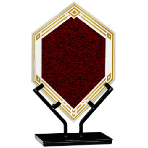 Acrylic Small Infinity Diamond Plaque with Iron Stand
