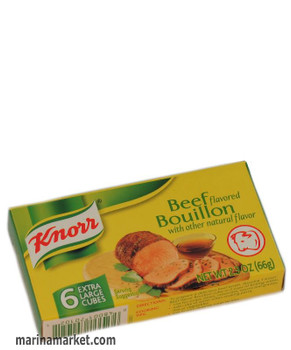 KNORR BEEF BOUILLON CUBES 66g
