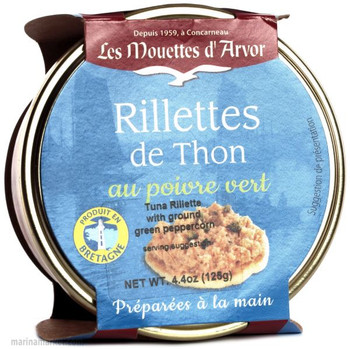 LES MOUETTES d' ARVOR  TUNA RILLETTES 125g