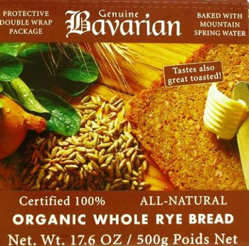 BAVARIAN SLICED WHOLE RYE BREAD 500g