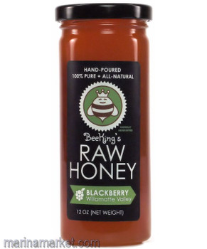 BEEKINGS RAW BLACKBERRY HONEY 12oz
