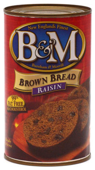 B&M BOSTON RAISIN BROWN BREAD CANNED