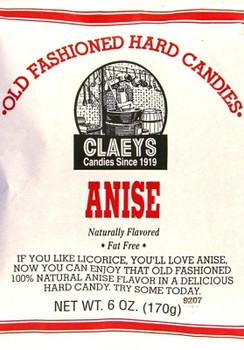 CLAEYS ANISE DROPS 6OZ