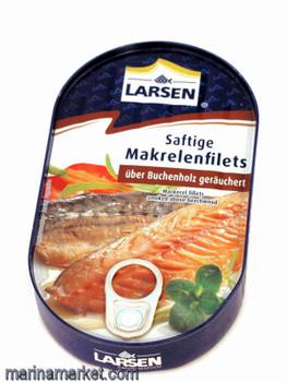 LARSEN SMOKED MACKEREL FILETS 190g