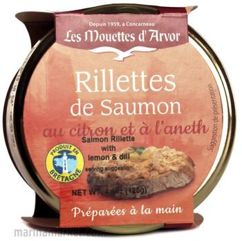 LES MOUETTES d' ARVOR  SALMON RILLETTES 125g