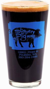 SLIPPERY PIG PINT GLASS