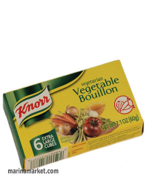KNORR VEGETABLE BOUILLON CUBES 60g