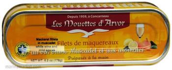 LES MOUETTES d' ARVOR MACKEREL WITH WINE 176g
