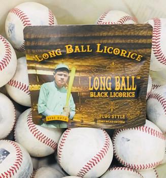 BABE RUTH LONG BALL BLACK LICORICE 8oz