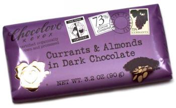 CHOCOLOVE CURRANTS & ALMONDS 73% CHOCOLATE