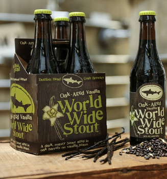 DOGFISH HEAD VANILLA WORLD WIDE STOUT 4-PK