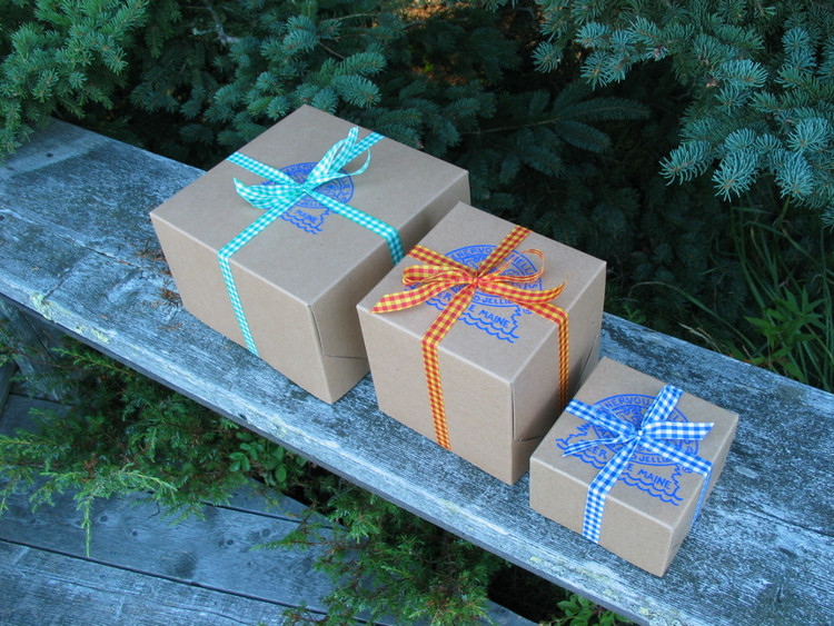 Three sizes of gift boxes--we'll fill with whatever you choose (and can still get the lid on!)