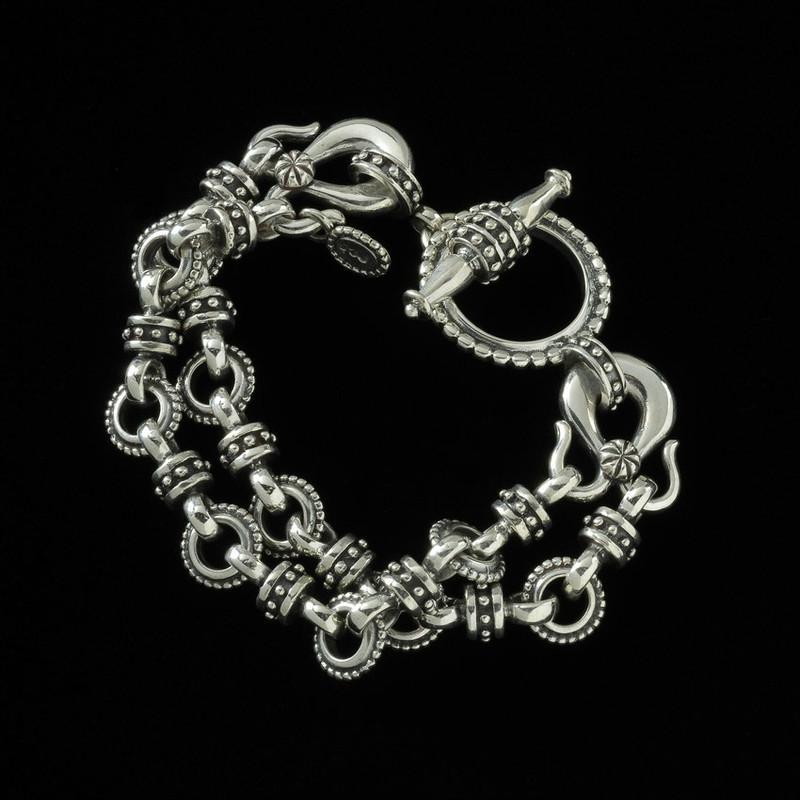 Toggle Bracelet, Sterling Silver, handmade, Bowman Originals Jewelry, Sarasota, 941-302-9594