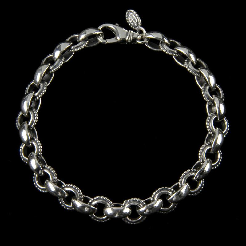 Athena Bracelet handmade in Sterling Silver links by Bowman Originals, Sarasota, 941-302-9594