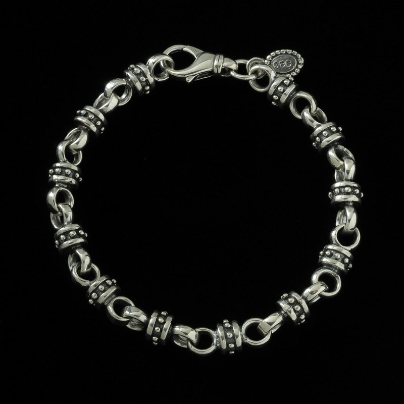 Alexander the Great Bracelet, Silver, handmade by Bowman Originals, Sarasota, 941-302-9594