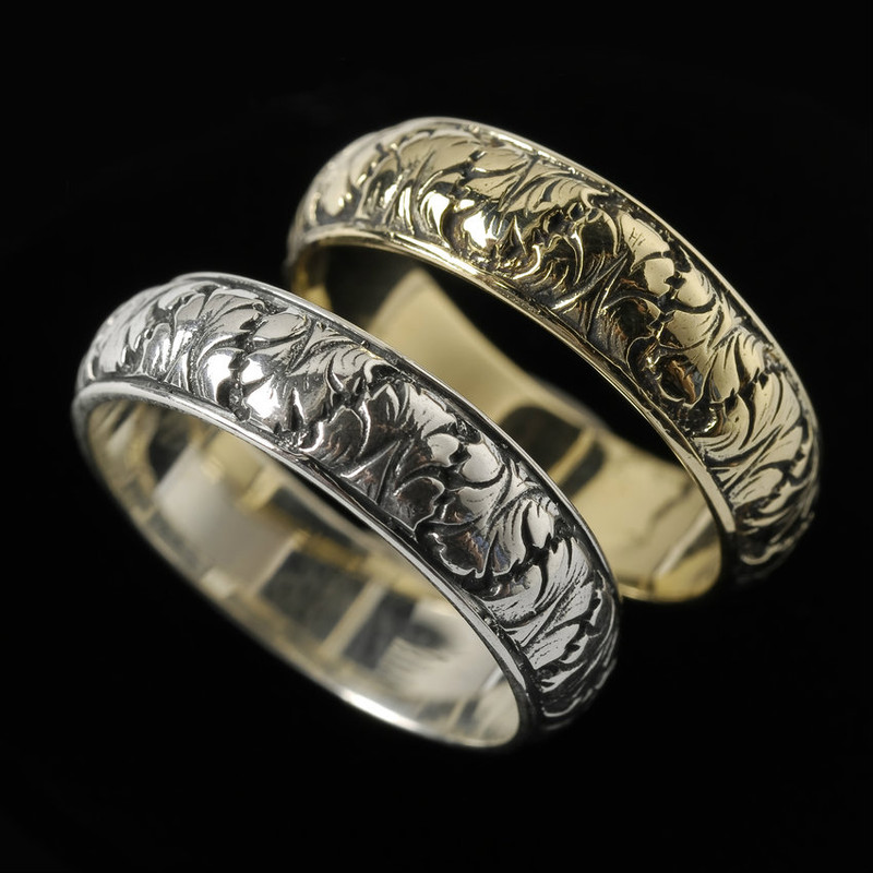 bands uncut leaf anniversary vertrees rings twig wedding and gold by rough ring or dawn eternity raw vine engagement