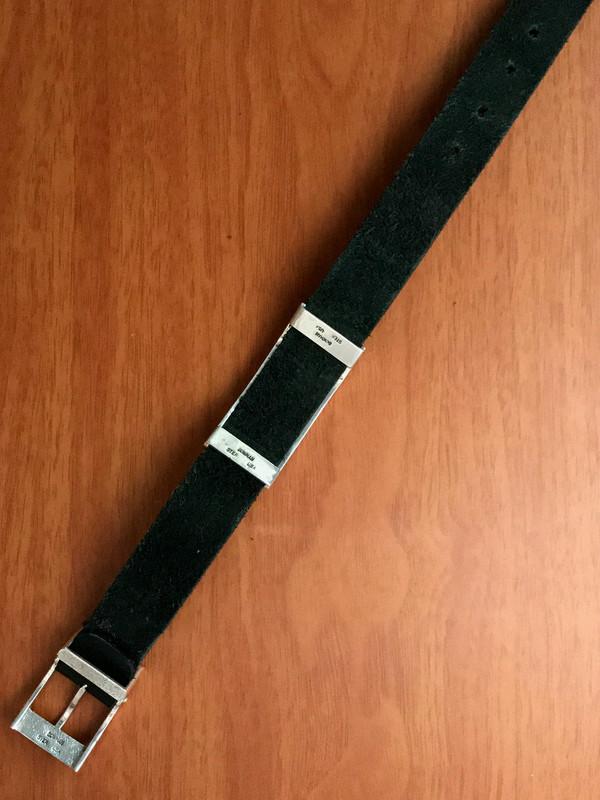 Underside of Slide Bracelet, Buckle and Leather by Bowman Originals