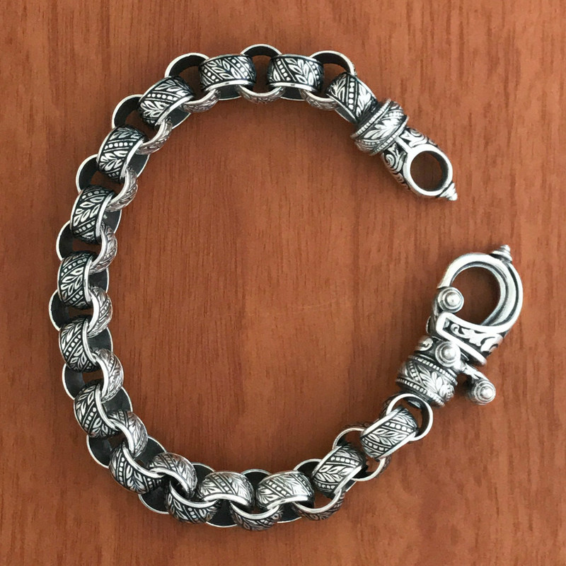 Sterling Silver and Black Enamel handmade bracelet by Bowman Originals, Sarasota, 941-302-9594,.
