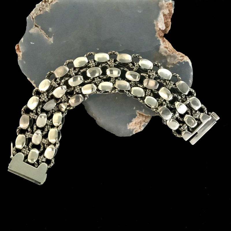 Back side Laurel Leaf Bracelet, Sterling Silver by Bowman Originals, Downtown Sarasota, 941-302-9594