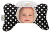 Black Dot Baby Head Pillow