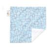 "Blue Mod Mini Baby Blanket (12"" x 12"")"