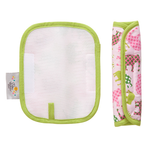 Pink Elephant Strap Covers Stroller Accessories