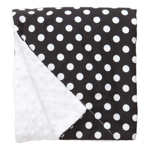 "Black Dot Large Baby Blanket (27"" x 29"")"