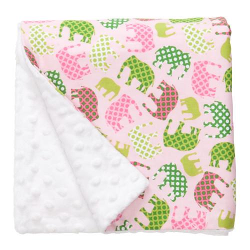 "Pink Elephant Large Blanket (27"" x 29"")"