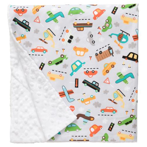 """Vroom Large Baby Blanket (27"""" x 29"""")"""
