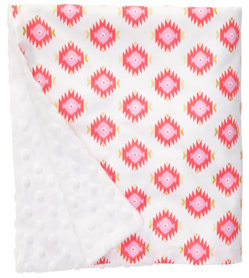 "Glitzy Diamond Large Baby Blanket (27"" x 29"")"