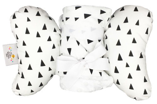 Tiny Triangles Gift Set with Baby Elephant Ears and Large Blanket