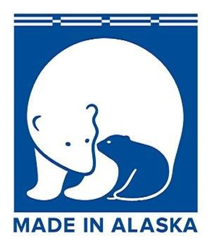 When purchasing products in Alaska, look for the mother bear and her cub logo signifying the product was manufactured in Alaska