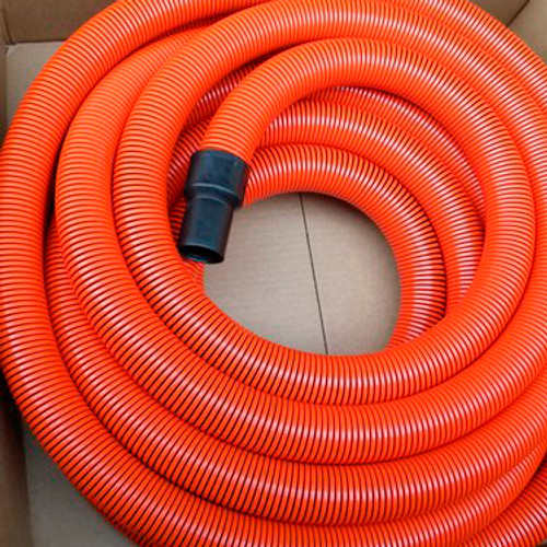 "2.5"" (inches) x 50' (feet) Heavy Duty Orange Amflex Pro-Flex Truckmount Flexible Vacuum Hose"