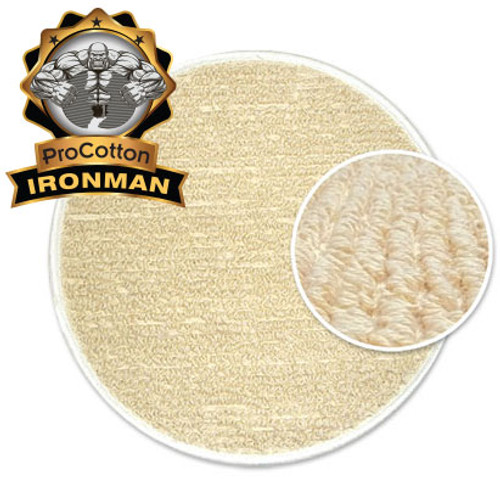 "ProCotton IronMan Long-Life Carpet Cleaning Bonnets 8.5"" 13"" 17.5"" 19.5"""