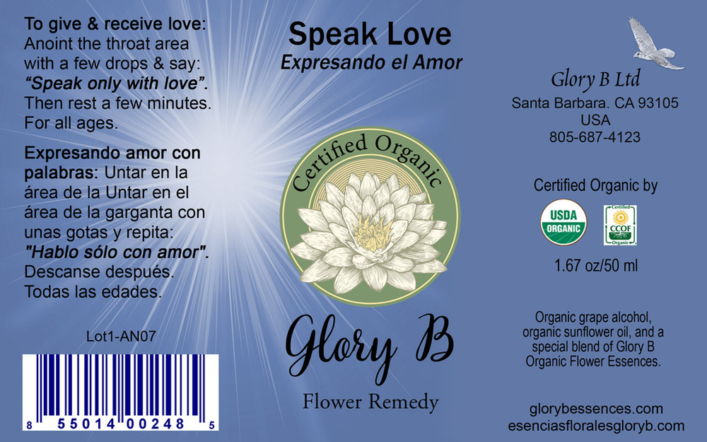 SPEAK LOVE  an anointing blend  to give & receive LOVE