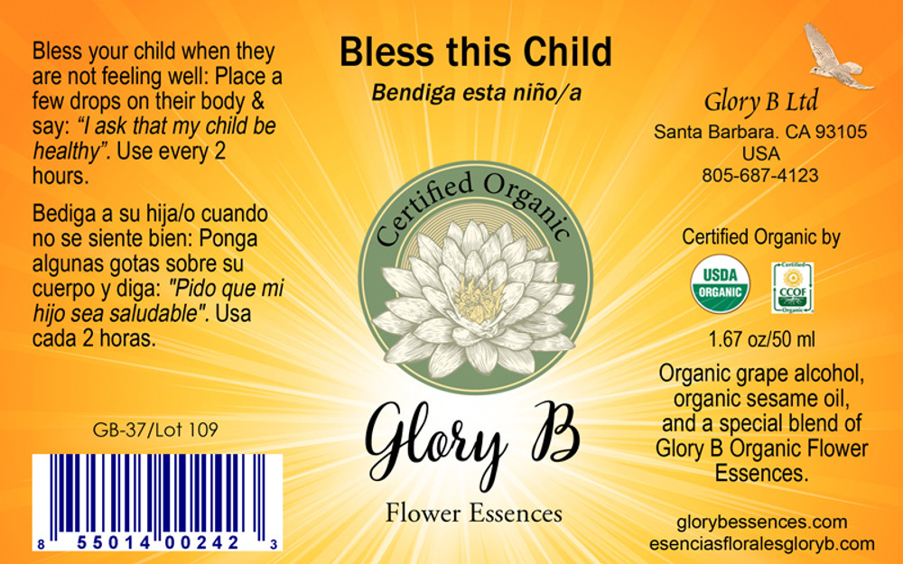 BLESS THIS CHILD Organic Flower Essence Blend