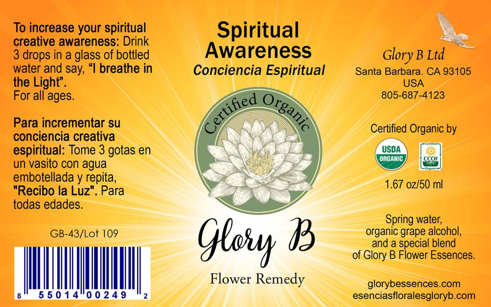 SPIRITUAL AWARENESS Organic Flower Essence Blend
