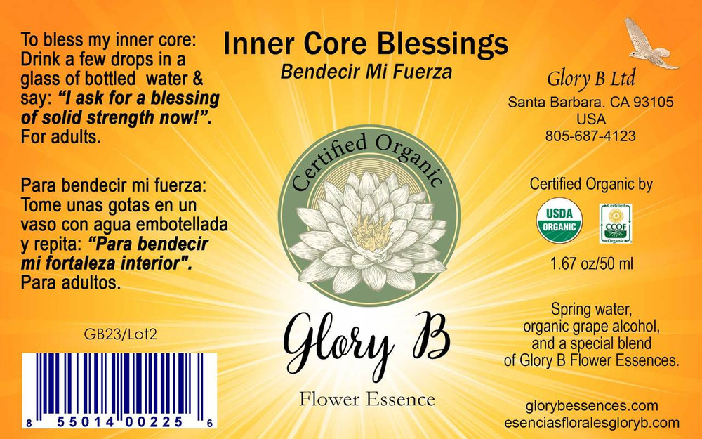 INNER CORE  BLESSINGS use when you want relief from being out of balance