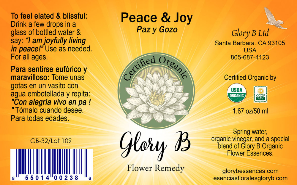 PEACE and JOY  .....use to feel elated and blissful