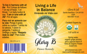 LIVING A LIFE IN BALANCE will help you commence living in harmony with all life
