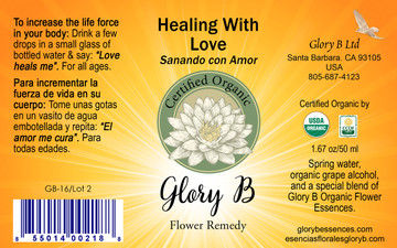 HEALING WITH LOVE brings a loving energy to where you need it