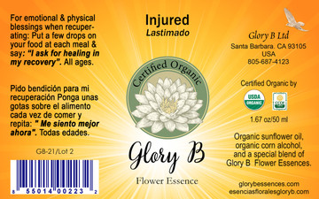 INJURED Organic Flower Essence Blend