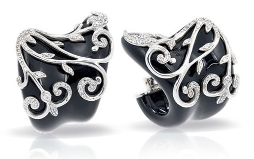 Belle Etoile Anastacia Black Earrings