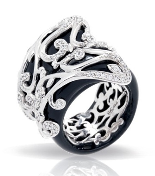 Anastacia Black Ring