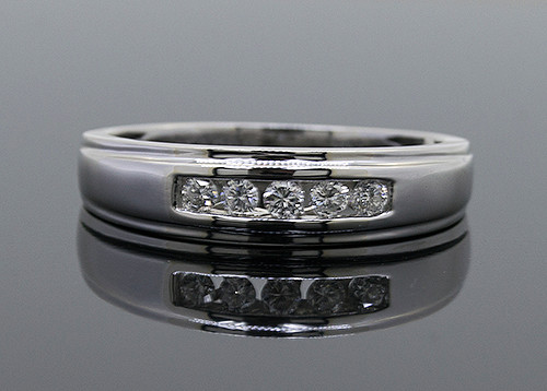 LCL10030 MANS DIAMOND RING 14KW