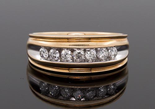 GBC12243 MANS DIAMOND RING 14KTT