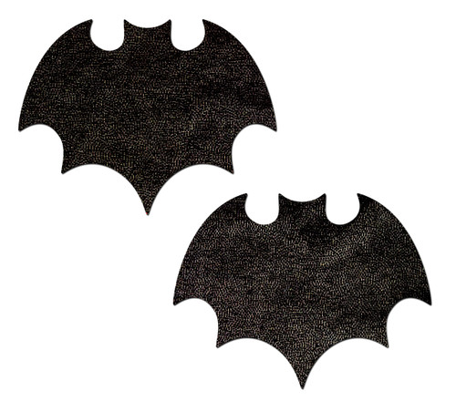 Vamp: Liquid Black Bat Nipple Pasties by Pastease® o/s