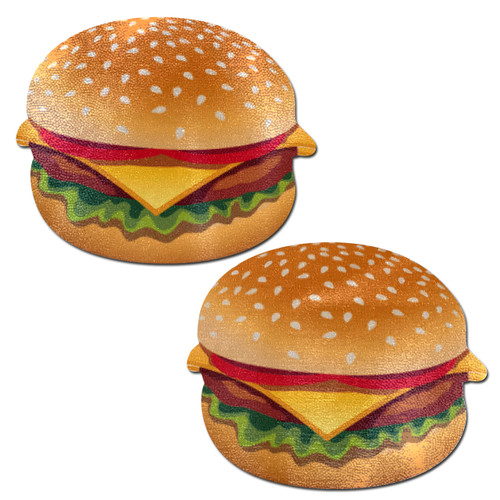 Burger: Delicious Cheeseburger Nipple Pasties by Pastease® o/s