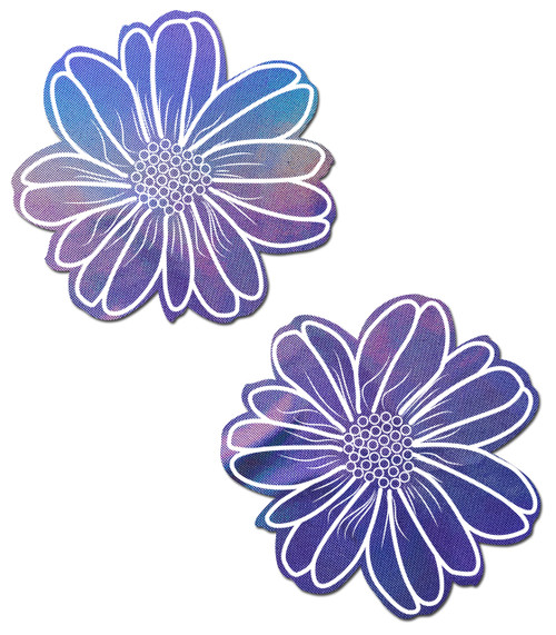 Wildflower: Holographic Lavender Flower Nipple Pasties by Pastease® o/s