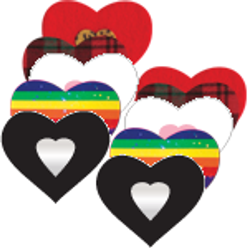 Love: Heart Variety Pack: 3, 5, 10 & 20 Pair: FREE Shipping!